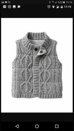 Baby Boys Sweaters: cardigans, cotton sweaters, knit sweater vests, hoodies at babyGap Knitting Patterns Boys, Knitting For Kids, Baby Knitting, Knit Baby Sweaters, Boys Sweaters, Baby Boy Fashion, Kids Fashion, Pullover Outfit, Crochet For Boys