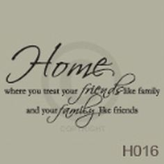 Home Vinyl Wall Decal by TickledPinkImpress on Etsy, $25.00