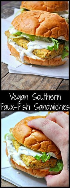 Vegan Southern Faux-Fish Sandwiches - Rabbit and Wolves