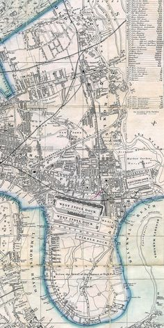 Bow and Poplar - 1861 London 1800, London Map, Old London, Victorian London, Uk History, London History, British History, Ancient History, Family History