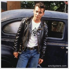 Johnny Depp in John Waters' Cry-Baby Johnny Depp Cry Baby, Young Johnny Depp, Teddy Boys, Cry Baby Movie, Cry Baby 1990, Johnny Depp Joven, Johny Depp, Rockabilly Moda, Rockabilly Fashion
