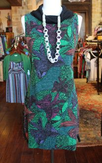 Green Leaf Bow Winter Dress - Pistols and Pearls - Cute Tops, Dresses