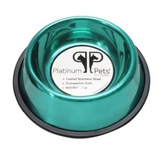 Platinum Pets Nontip Stainless Steel Dog Bowl 16 oz Teal * Be sure to check out this awesome product.(This is an Amazon affiliate link and I receive a commission for the sales)