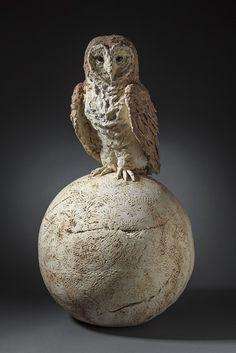 owls   Christine Kosiba, Sculptor