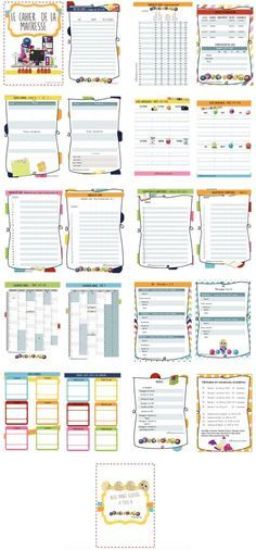 bonnes idees Hijab 3 simple hijab style with niqab Journal Organization, Teacher Organization, Teacher Planner, Teaching French, Primary School, School Projects, Back To School, Bullet Journal, How To Plan