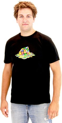 a425e404a7d Rubik's Cube Melting Sheldon Cooper The Big Bang Theory Black T-shirt  $21.95 Rubik's Cube