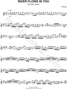 "Yiruma ""River Flows In You"" Sheet Music (Violin Solo) - Download & Print"