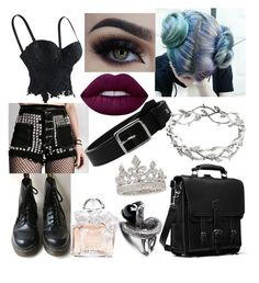 """Punk Princess"" by liliebelle ❤ liked on Polyvore featuring Dr. Martens, Lime Crime, Guerlain, rag & bone, Tiffany & Co. and Garrard"