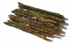 Espárragos verdes fritos