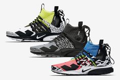 Przed Wami oficjalne zdjęcia trzech świeżych kolorystyk butów ACRONYM x Nike Air Presto Mid za projekt których odpowiadał nie kto inny jak sam Errolson Hugh
