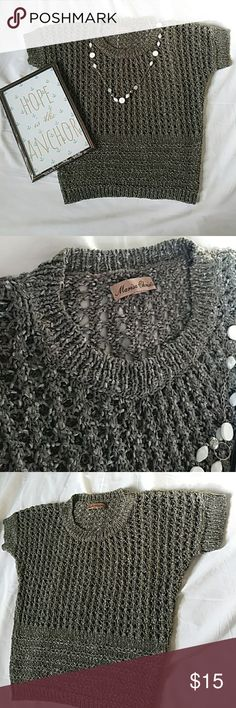 COZY OLIVE GREEN CROCHET CABLE KNIT SWEATER SHIRT Very Cute Olive Colored Sweater Shirt!!! 🎀 Goes Great With A Camisole Underneath Since It Is See Through!!! 😉 No Snags Or Tears!!! 👍 Pair w/ Your Fave Jeans Or Dress It Up With A Cute Skirt!!!!  (see pics for measurements)   Any Questions About This Adorable Piece??? Feel Welcome To Let Me Know!!! 😊 Thank You For Shopping At My Store & Stay Beautiful!!! 💋💋💋  🚫No Trades!!! 👍Open 2 Offers!!! Tops Tees - Short Sleeve
