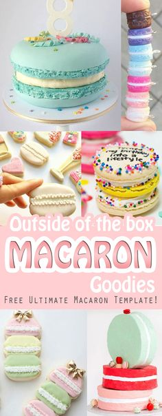 Top picks for out of the ordinary macaron inspirations like macaron shaped cakes, cookies, pillows and more with Free Ultimate Macaron Template