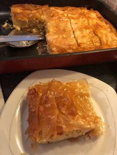 No Cook Desserts, Dessert Recipes, Cookbook Recipes, Cooking Recipes, Spanakopita, Greek Recipes, Pasta, Ethnic Recipes, Savoury Pies