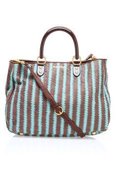 4b08f22260d6 Shoulder Bag In Brown  amp  Aqua. Best Handbags