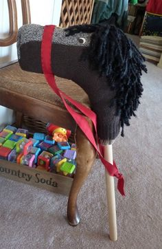 How to make a Stick/Hobby horse  #DIY #Easy #Crafts #Kids