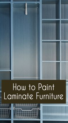pWhen painting laminate furniture, there are just a few things to know that are different than painting real wood furniture. With laminate furniture, you are basically dealing with a surface that is basically plastic instead of a surface that is wood. Real Wood Furniture, Painting Laminate Furniture, Do It Yourself Furniture, Paint Furniture, Furniture Projects, Furniture Making, Furniture Makeover, Home Projects, Furniture Repair