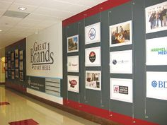 Poster/Photo Display Suspended on Wall-to-Wall Cable System - project consists of standard acrylic poster frames suspended on a wall-to-wall cable system. It is a quick and easy way to create high impact poster displays. Simple, and inexpensive, it is ideal for Educational Establishments. It is also an excellent way to draw attention to your courses, and services, in a way that students, and visitors can easily see what is available.