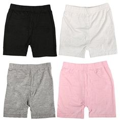 MyKazoe Girls' Bike Shorts, Sports and Under Skirts (4T/5T, Black, White, Grey, Pink) >>> Details can be found by clicking on the image.