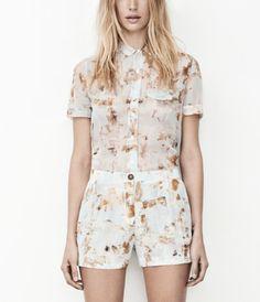 Fleur Check Shirt, Women, Shirts, AllSaints