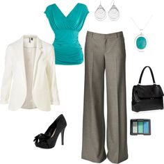 Cool blue hottie, created by tnoelle77.polyvore.com