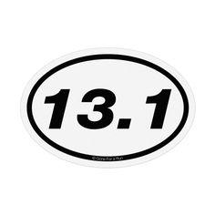 13.1 Half-Marathon Mini Mini Car Magnet - White