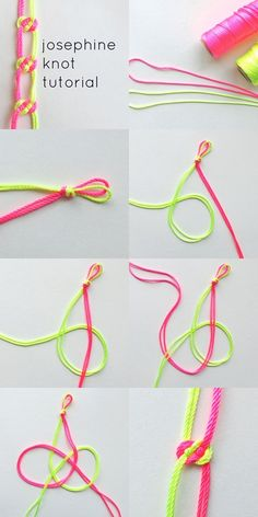 How to make colorful josephine knot step by step DIY instructions♥ ❤♥ ❤How to, how to make, step by step, picture tutorials, diy instructions, craft, do it yourself
