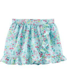 Garanimals Girls Baby Ruffle lace Layered Tiereds Skooter Skirt Skort Lavender Butterflies Pink Mint Purple
