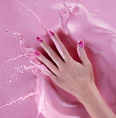 Spring/summer 2013 nail trends - Step-by-step how-to guide - Beauty - Stylist Magazine Pink Nail Colors, Pink Nails, Red And Pink, Pretty In Pink, Unicorn Nails, Instagram Nails, Everything Pink, Mani Pedi, Nail Trends
