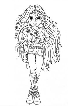 Moxie Girlz Coloring Pages Leah Clear Water Look A Like Saga
