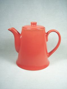 Red Ceramic Tea Pot Kettle Teapot Coffee by SnapshotsThroughTime, $14.00