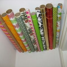 Wrapping Paper Ceiling - Get Organzed in 2013 - Home Organization Tips and Ideas (found on Pinterest)