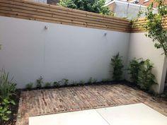 Garden Yard Ideas, Backyard Fences, Pavement, Garage Doors, Sidewalk, Patio, Outdoor Decor, Modern, Plants