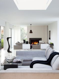 Subdued Modern Living Room   House & Home