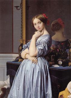 """Comtesse d'Haussonville (Louise de Broglie)"" Jean-Auguste-Dominique Ingres (French, 1780-1867), 1845, Oil on canvas, The Frick Collection"