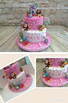 1st Birthday CBeebies character girly cake by Cake-D-Licious