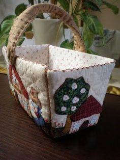Little Green Doll Japanese Patchwork, Sewing Baskets, Handicraft, Quilt Patterns, Knitting, Decoration, Handmade, Crafts, Fabric Basket
