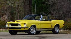 1968 Shelby GT500KR Convertible 4-Speed, Special Yellow Paint presented as lot R208 at Indianapolis, IN