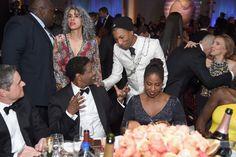 Inside the Golden Globes: Denzel Washington, Pharrell Williams in Chanel, and Pauletta Washington Golden Globe Award, Golden Globes, Celebrity News, Celebrity Style, Royal Look, Denzel Washington, Pharrell Williams, See On Tv, Celebs