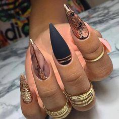 Coffin Nails Designs Trends Nail Art Ideas 2019 - Page 21 of 58 - hairstylesofwomens. Aycrlic Nails, Chic Nails, Dope Nails, Glam Nails, Stylish Nails, Fancy Nails, Nail Nail, Coffin Nails, Fabulous Nails