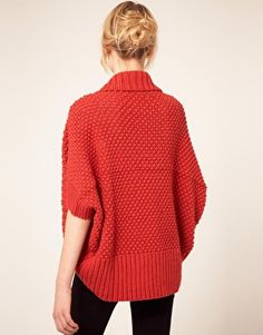 Alice Yim Hand Knitted Cocoon Cardigan - I need a pattern to do something like this myself