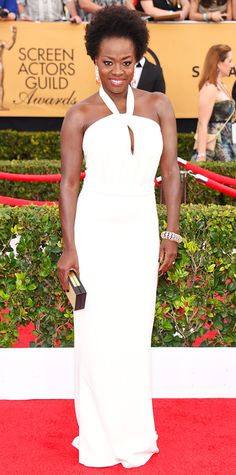 SAG 2015 Red Carpet Arrivals - Viola Davis from #InStyle