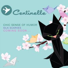 Chic Sense of humor - Silk scarves - coming soon...  http://centinelle.com