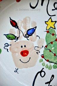 Pillowcase quilt idea- Reindeer hands and Christmas tree feet