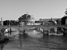 The Mausoleum of Hadrian - Castel Sant'Angelo, B & W