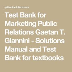 Test bank for operations and supply chain management the core 3rd test bank for marketing public relations gaetan t giannini solutions manual and test bank fandeluxe Image collections