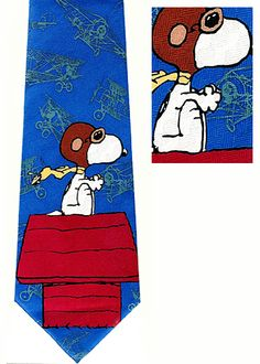 This Snoopy Flying Ace silk necktie is a licensed Peanuts cartoon collector item. We also offer ties illustrating Charlie Brown, Peppermint Patty, Linus, Woodstock, and other Peanuts cartoon characters. Peanuts Cartoon Characters, Flying Ace, Peppermint Patties, Neckties, Baron, Silk Ties, Fangirl, Nostalgia, Weird
