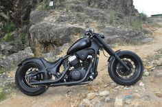 03 Honda Shadow 600 | Black Shadow Honda 600 (custom chopper)