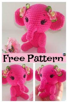 Crochet Amigurumi Elephant – Free Pattern #freecrochetpatterns #amigurumi #crochettoys #elephant