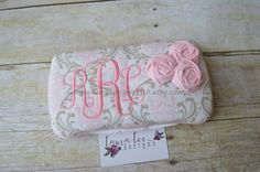 Elegant Light Pink and Taupe Damask with by LauraLeeDesigns108