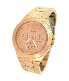 86940cc638b4 GUESS Women s U13624L1 Active Shine Multi-Function Rose Gold-Tone Sport  Watch - http